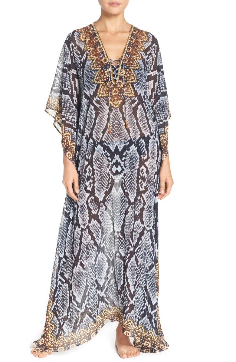ASA KAFTANS Shiraz Long Kaftan, Main, color, 020