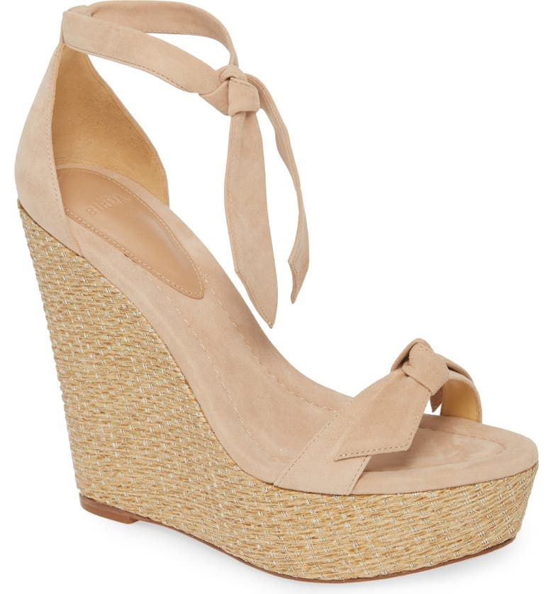 ALEXANDRE BIRMAN Clarita Raffia Wedge Sandal, Main, color, MARBLE