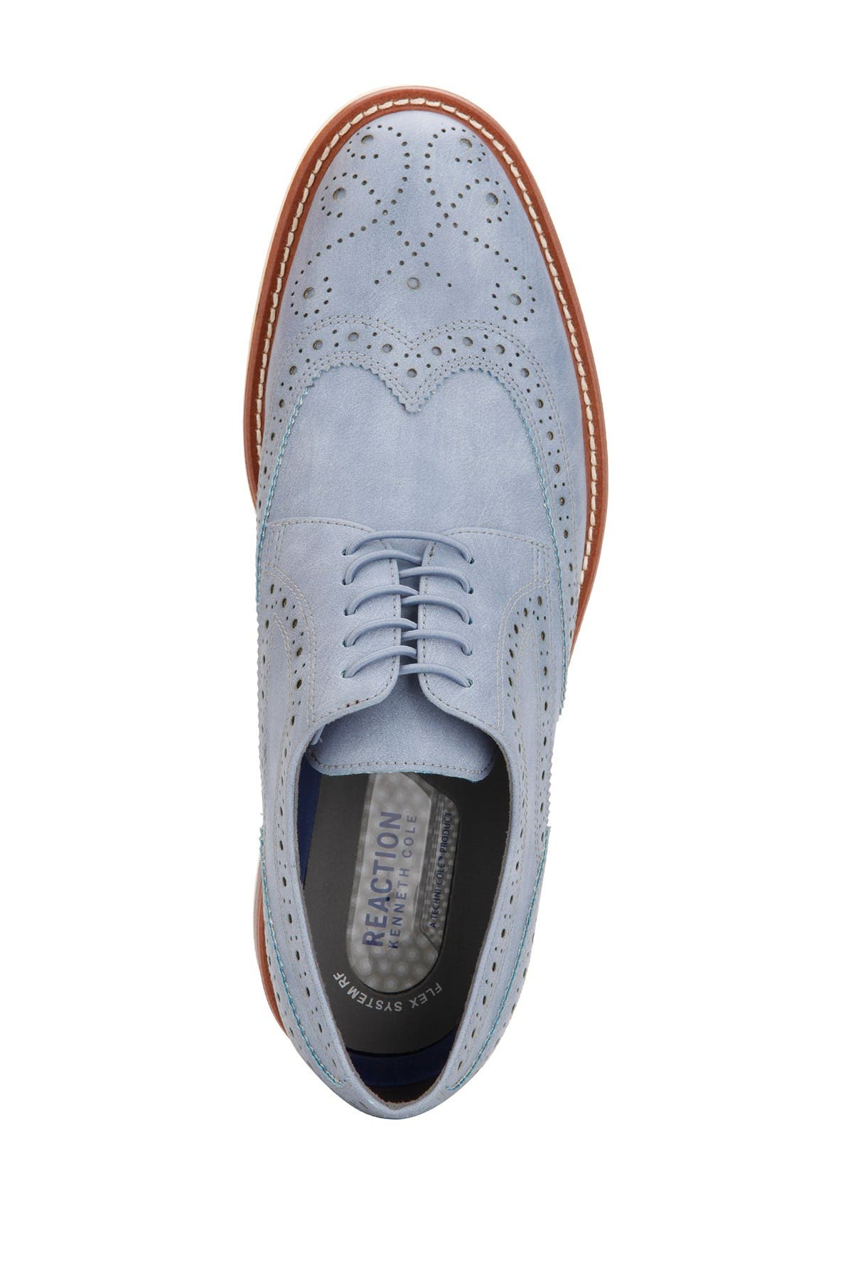 Kenneth Cole Klay Flex Lace-up Oxford In Light Blue