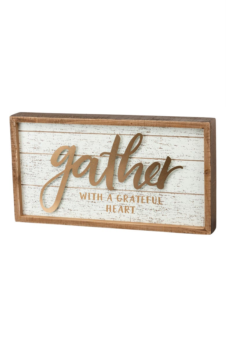 PRIMITIVES BY KATHY Gather Inset Box Sign, Main, color, IVORY