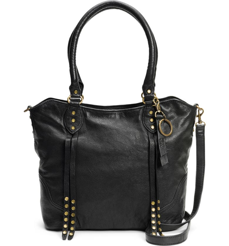 FRYE AND CO Dallas Leather Tote, Main, color, BLACK