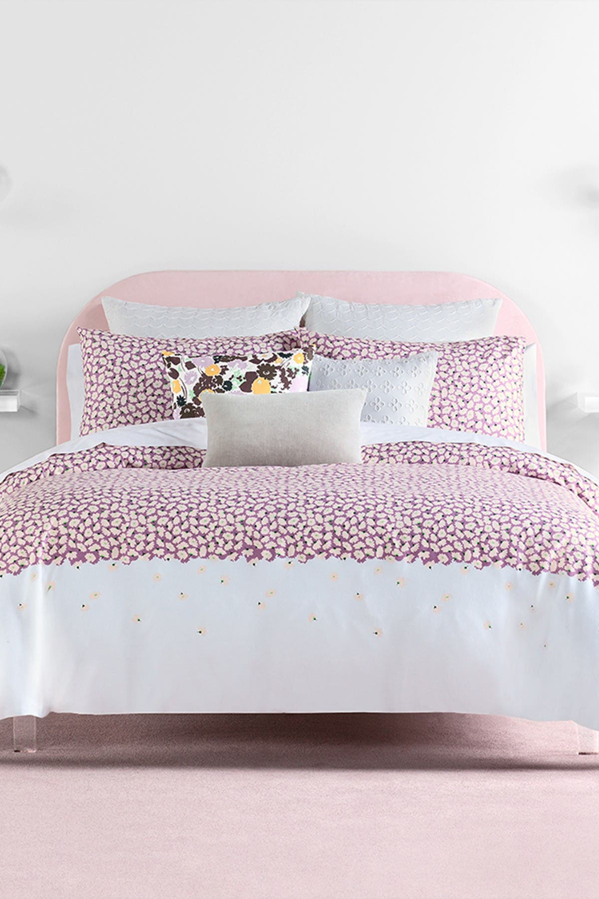 Image of kate spade new york lavender carnation full/queen comforter set