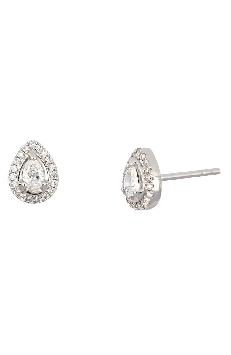 BONY LEVY Gatsby Pear Shape Diamond Stud Earrings, Main, color, 711