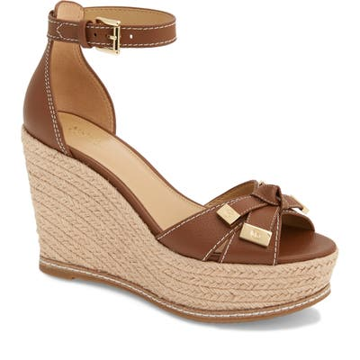 Michael Michael Kors Ripley Wedge Sandal- Brown