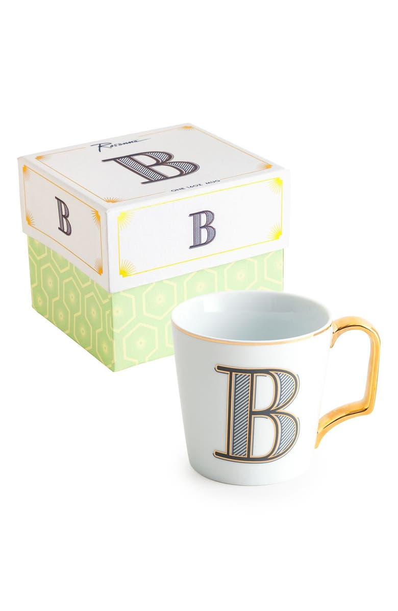 ROSANNA Monogram Porcelain Coffee Mug, Main, color, 101