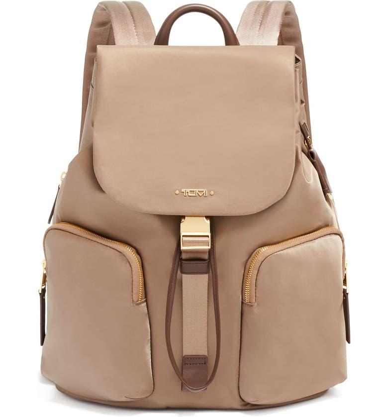 TUMI Rivas Nylon Backpack, Main, color, FOSSIL