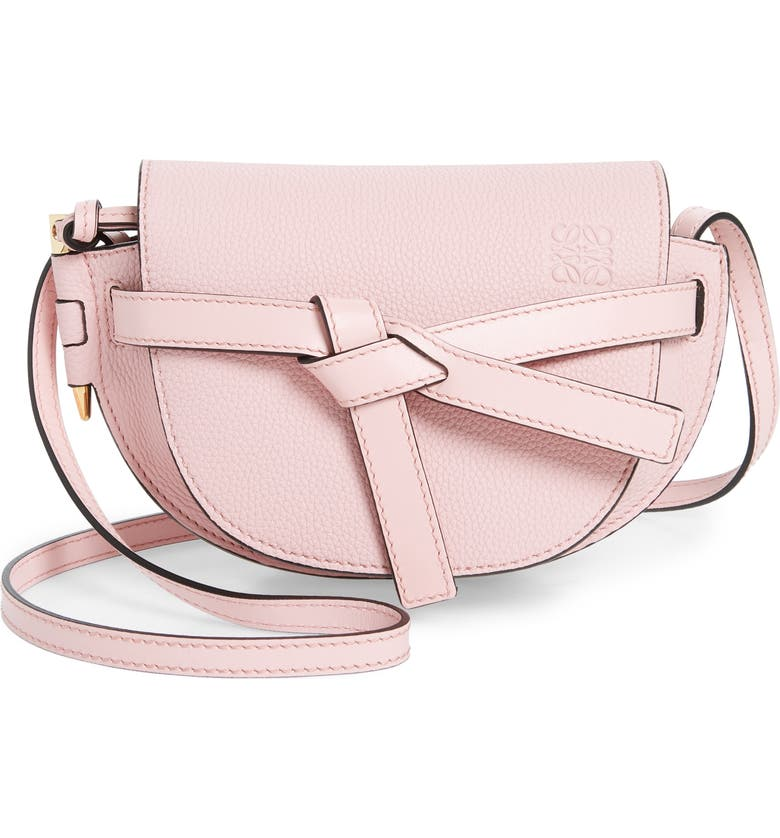 LOEWE Small Gate Leather Crossbody Bag, Main, color, PASTEL PINK