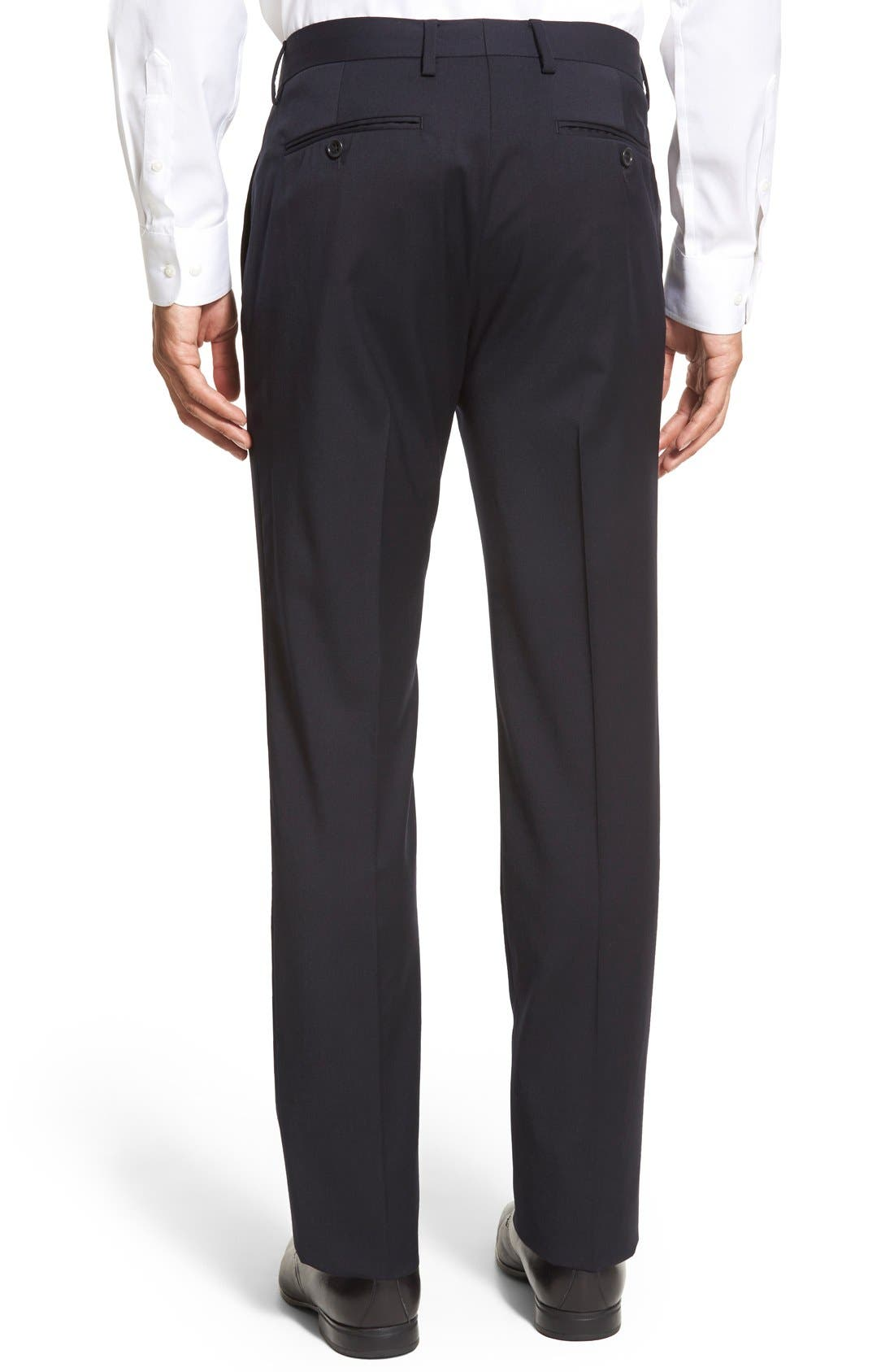 ,                             Jetsetter Slim Fit Flat Front Stretch Wool Trousers,                             Alternate thumbnail 29, color,                             400