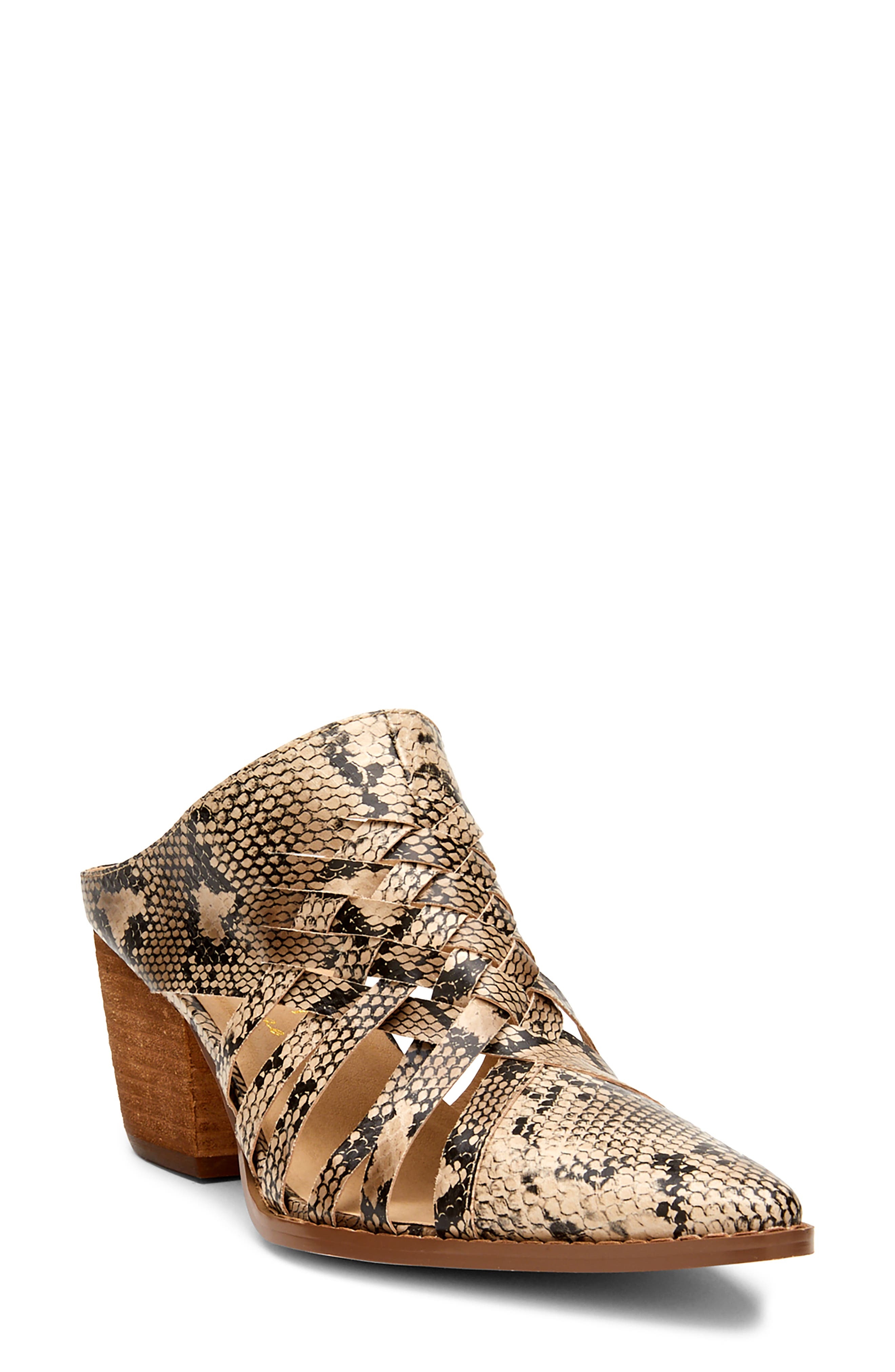 Gold Coast Snake Embossed Woven Mule