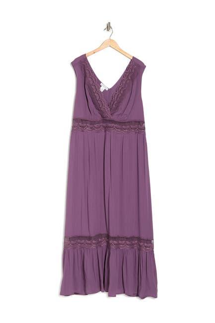 Image of BAILEY BLUE Crochet Inset Maxi Dress