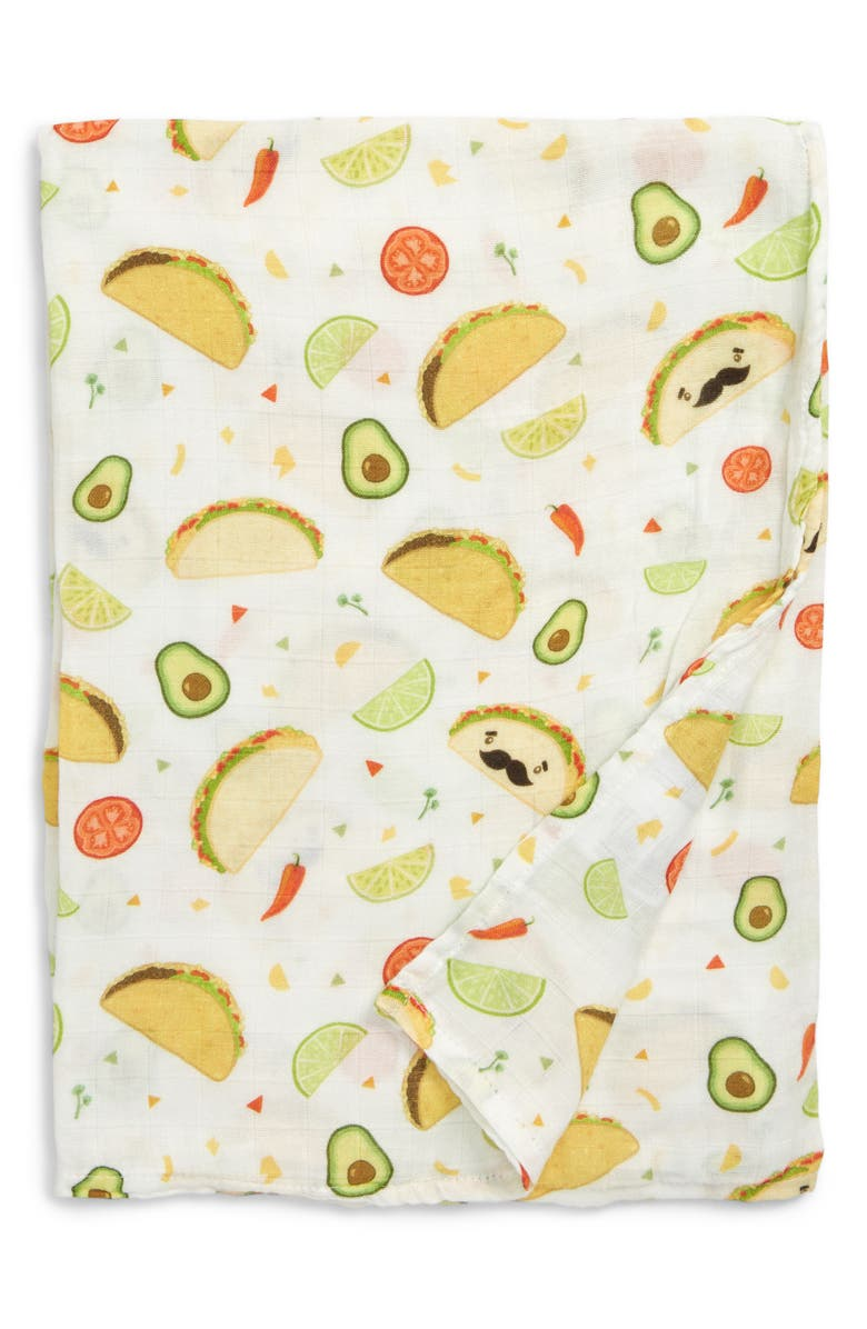 LOULOU LOLLIPOP Taco Deluxe Muslin Swaddle Blanket, Main, color, TACO