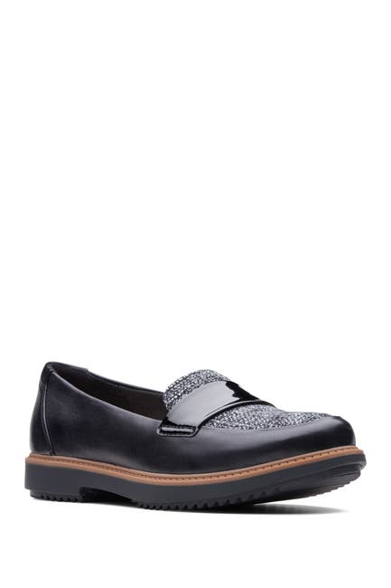 Image of Clarks Raisie Arlie Leather Loafer - Wide Width Available