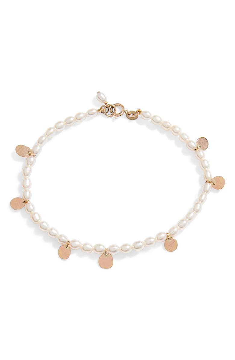 POPPY FINCH Keshi Pearl Gold Confetti Bracelet, Main, color, PEARL/ YELLOW GOLD