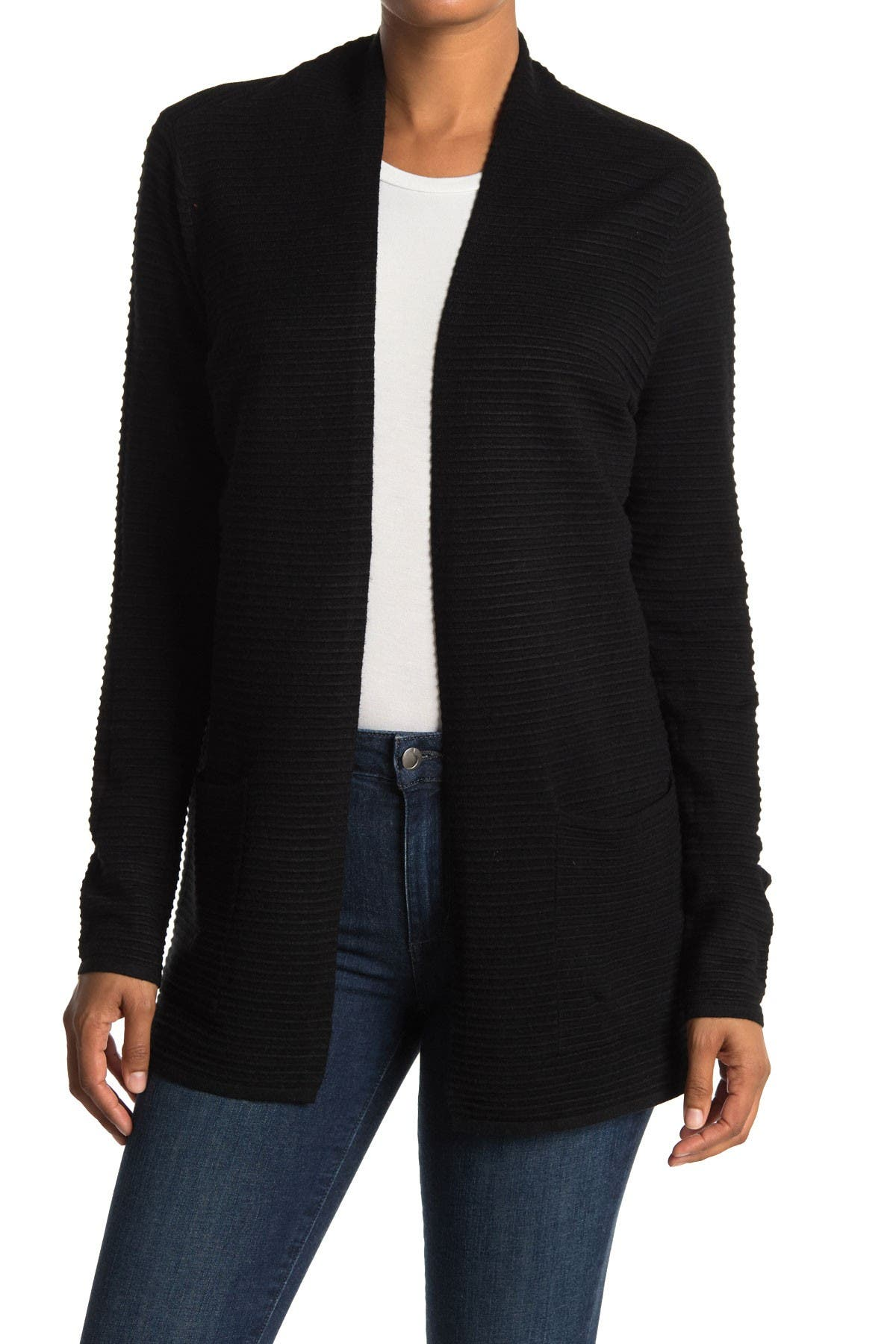 Image of Devotion By Cyrus Ottoman Ribbed Open Cardigan