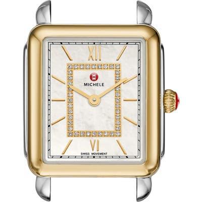 Michele Deco Ii Mid Diamond Watch Head, 25Mm Mm