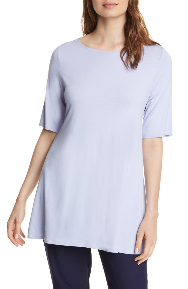 EILEEN FISHER Tie Back Stretch Tencel<sup>®</sup> Lyocell Top, Main, color, HYACINTH