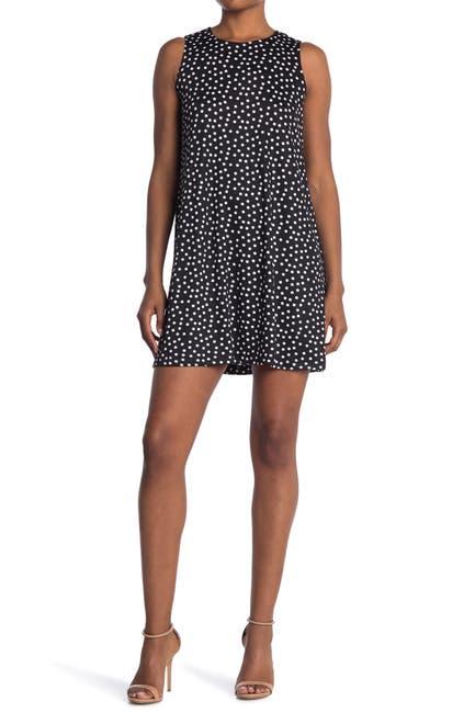 Image of TASH + SOPHIE Polka Dot Shift Dress
