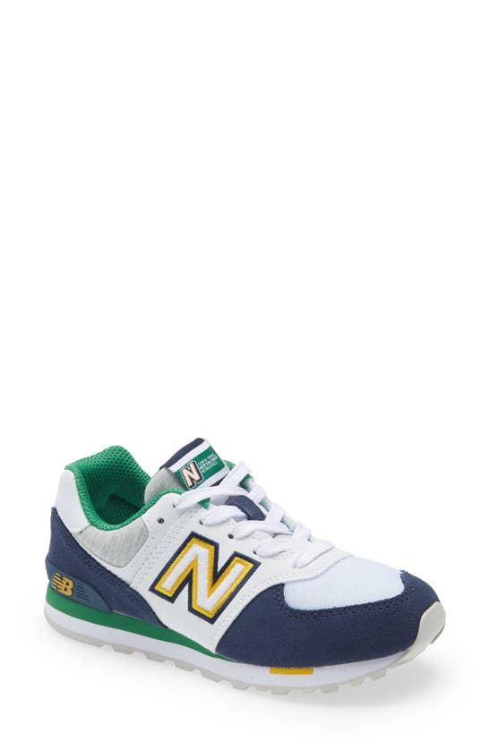 New Balance Kids' Toddler Boys 574 Varsity Sport Casual Sneakers From Finish Line In White/navy