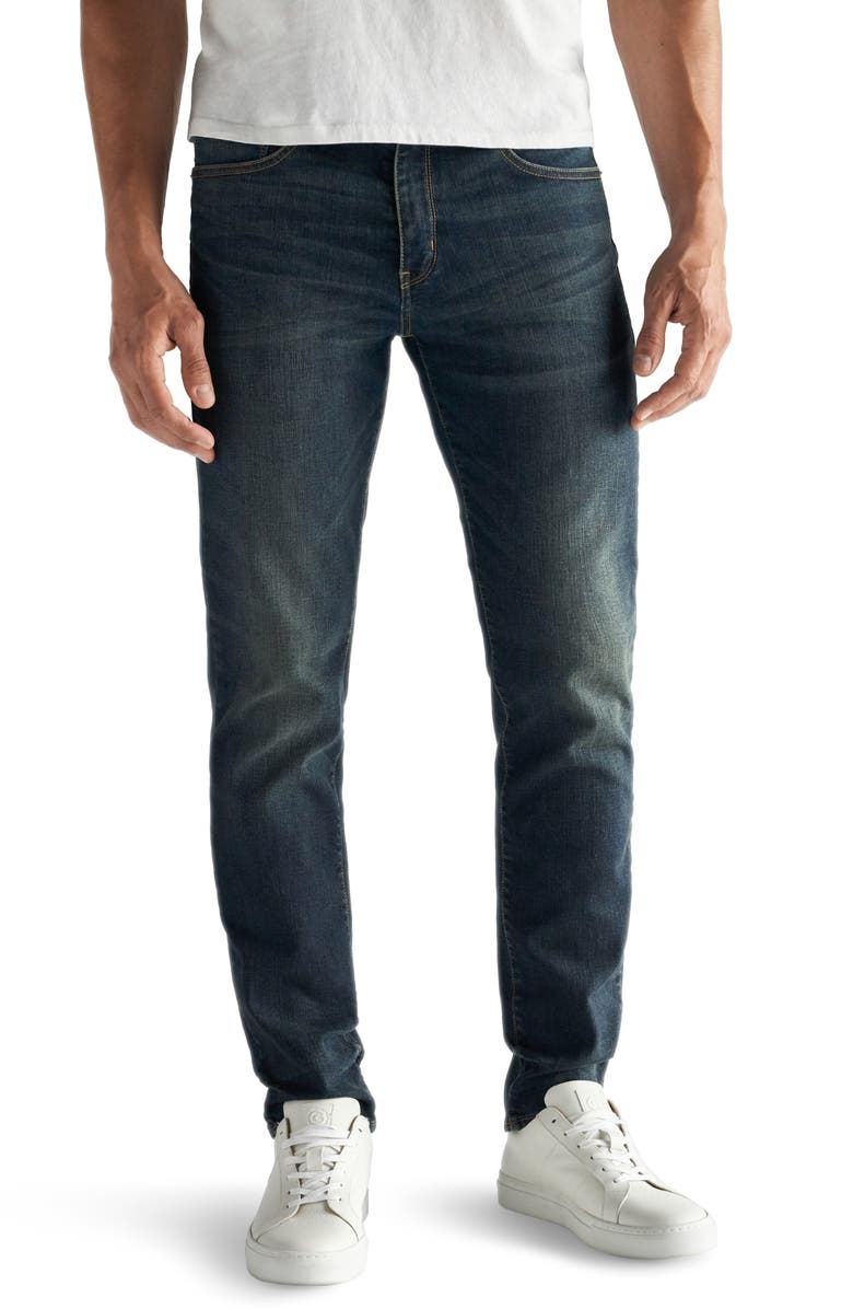 DEVIL-DOG DUNGAREES Slim Fit Performance Stretch Jeans, Main, color, MOORE