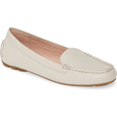 Taryn Rose Karen Water Resistant Driving Loafer- White