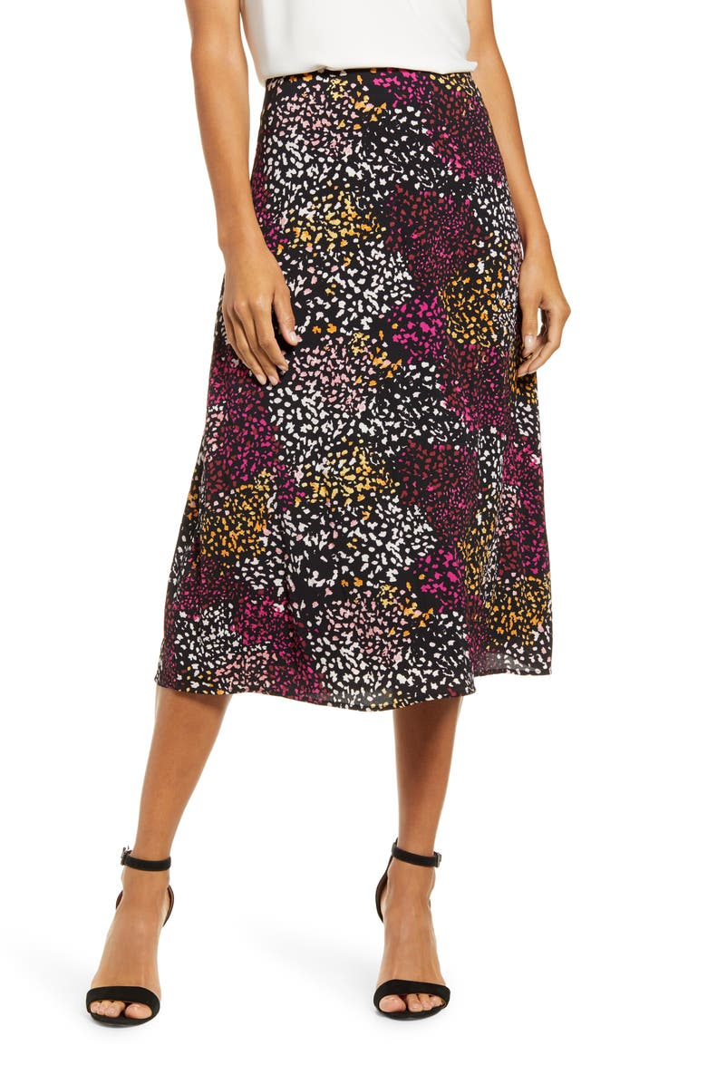 GIBSON x City Safari Roselyn Weaver A-Line Midi Skirt, Main, color, 007