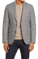 Deals on Ted Baker London Mens Konan Trim Fit Plaid Wool Blazer