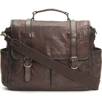 Frye Murray Leather Briefcase - Brown