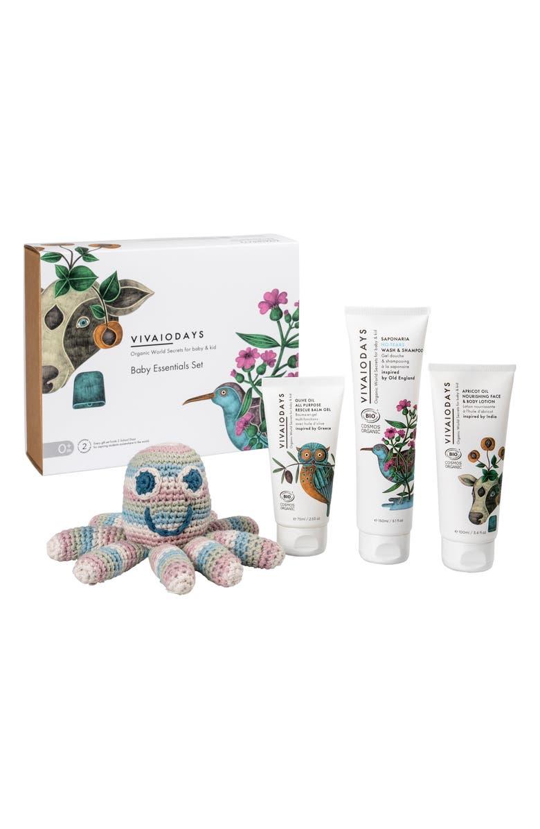 VIVAIODAYS Organic Baby Essentials Set, Main, color, WHITE