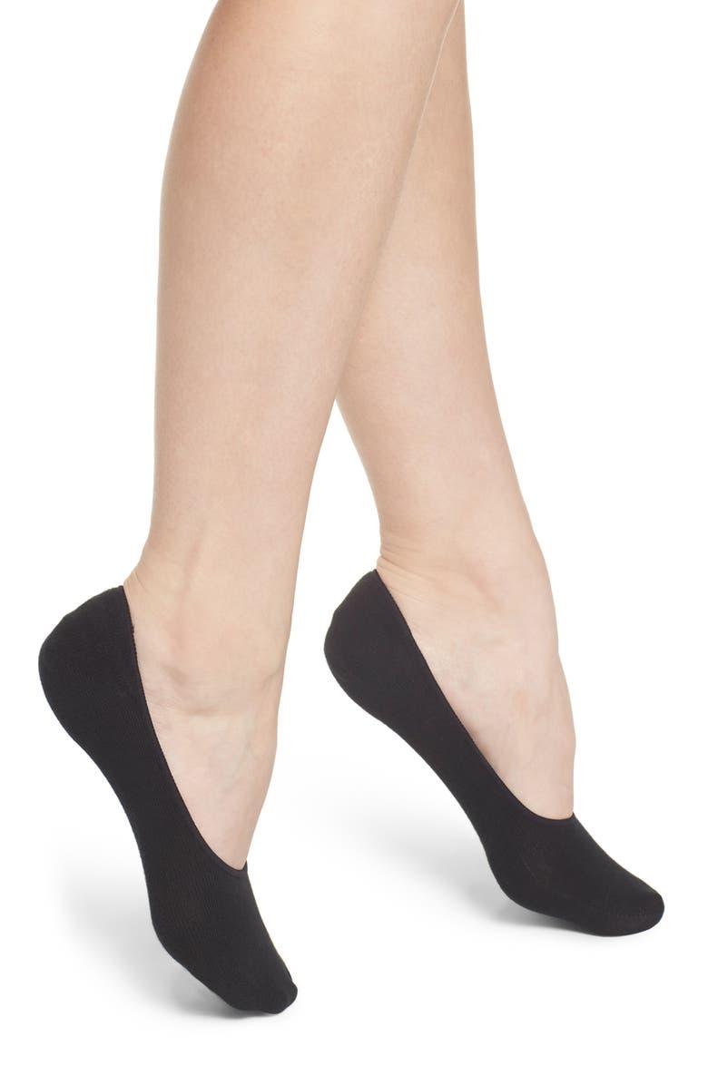 HUE 3-Pack Liner Socks, Main, color, BLACK