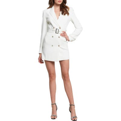 Bardot Addy Long Sleeve Blazer Dress, Ivory