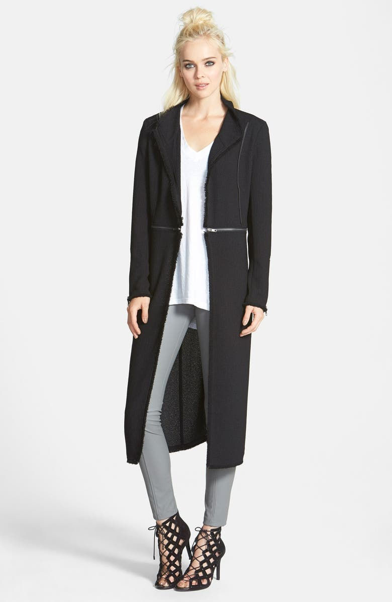 LEITH Zip Detail Jacket, Main, color, 001