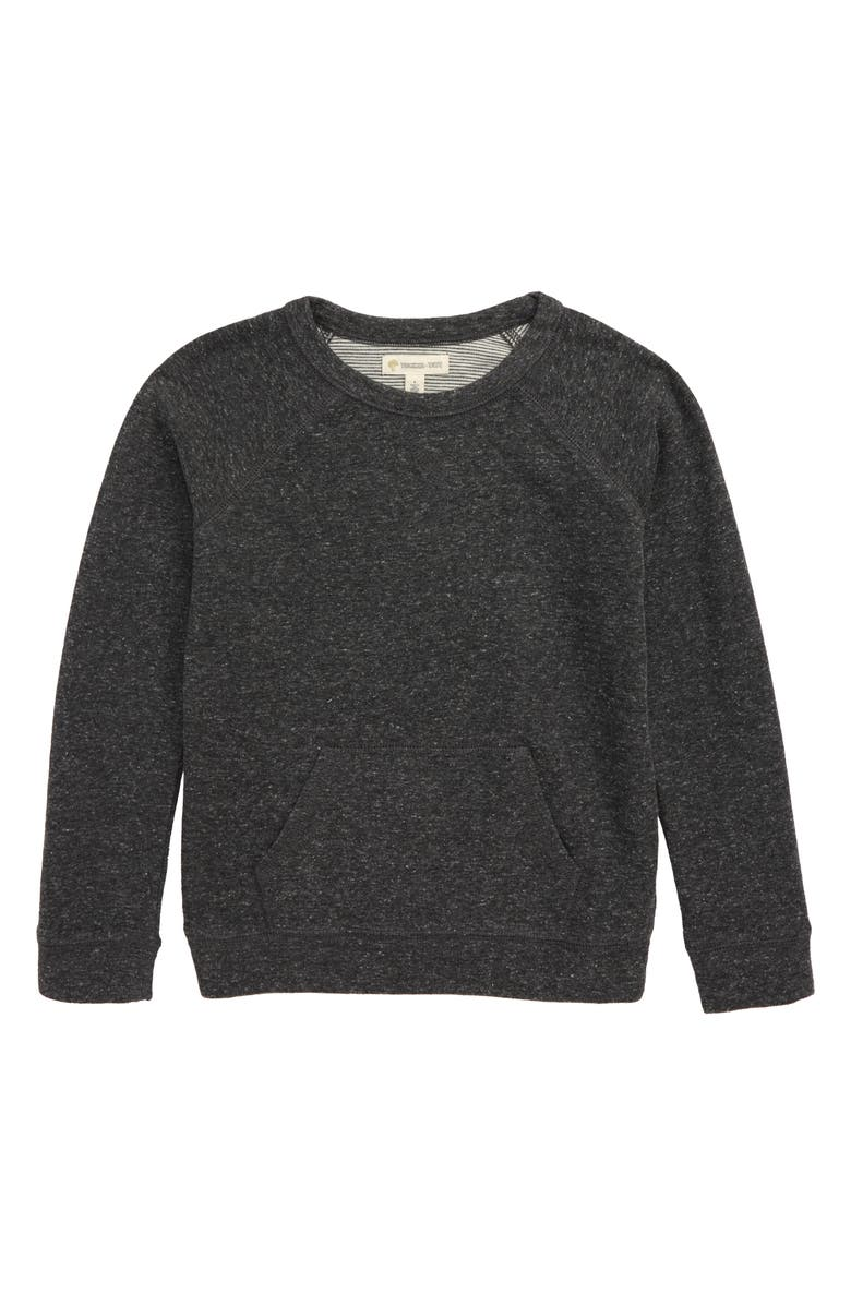 TUCKER + TATE Head Lamp Double Knit Sweatshirt, Main, color, GREY CHARCOAL HEATHER
