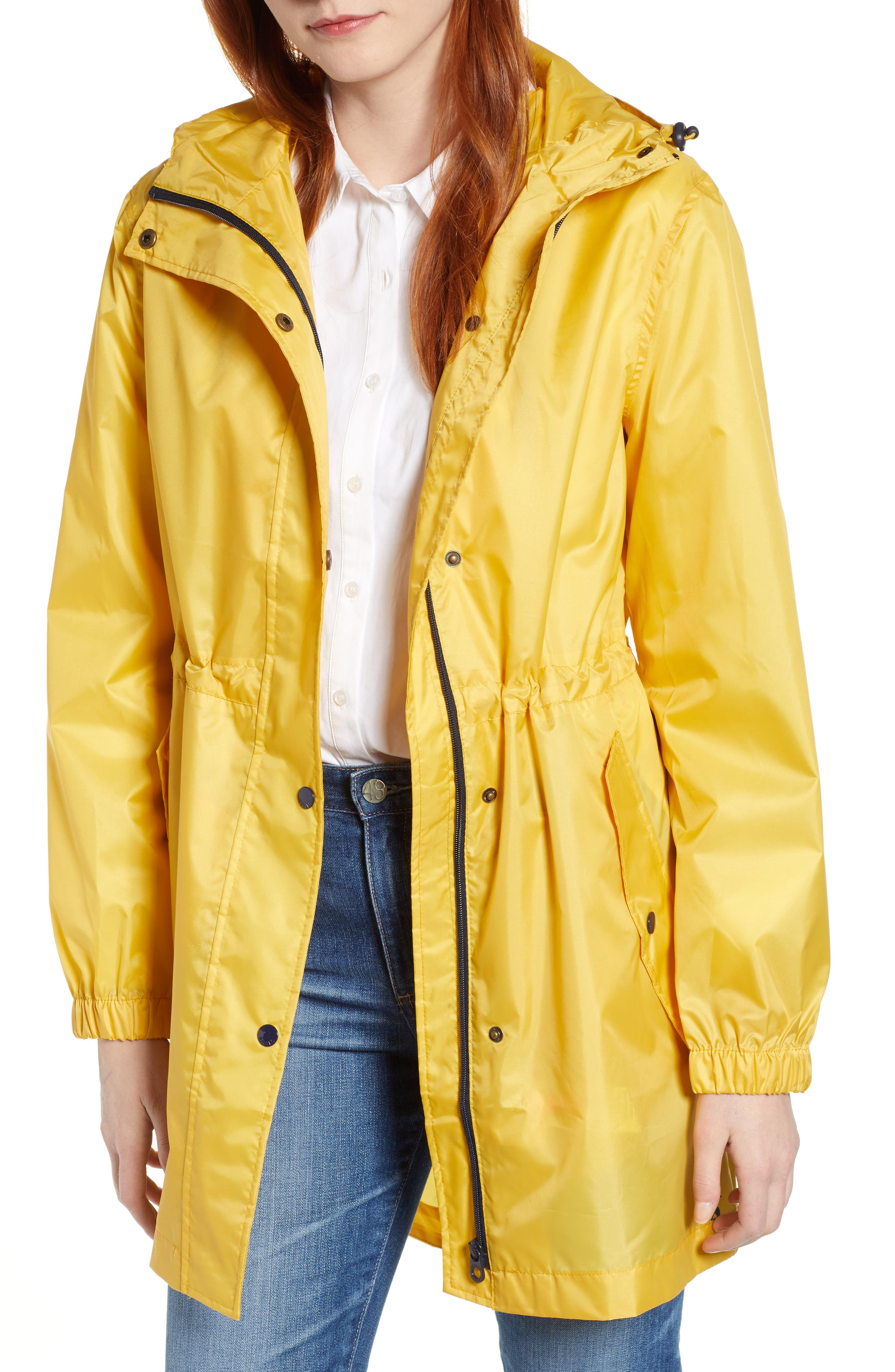 Right As Rain Golightly Packable Waterproof Hooded Jacket, Main, color, ANTIQUE GOLD