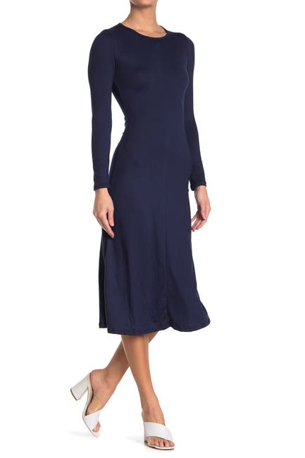 Image of Velvet Torch Long Sleeve Midi Dress