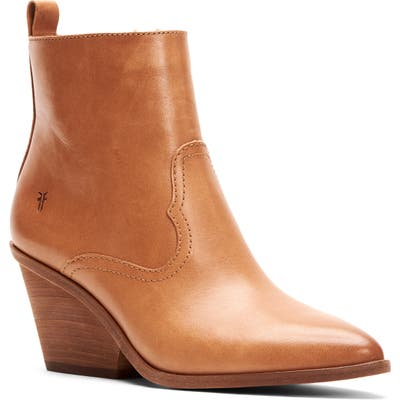 Frye Amado Demi Wedge Bootie, Brown