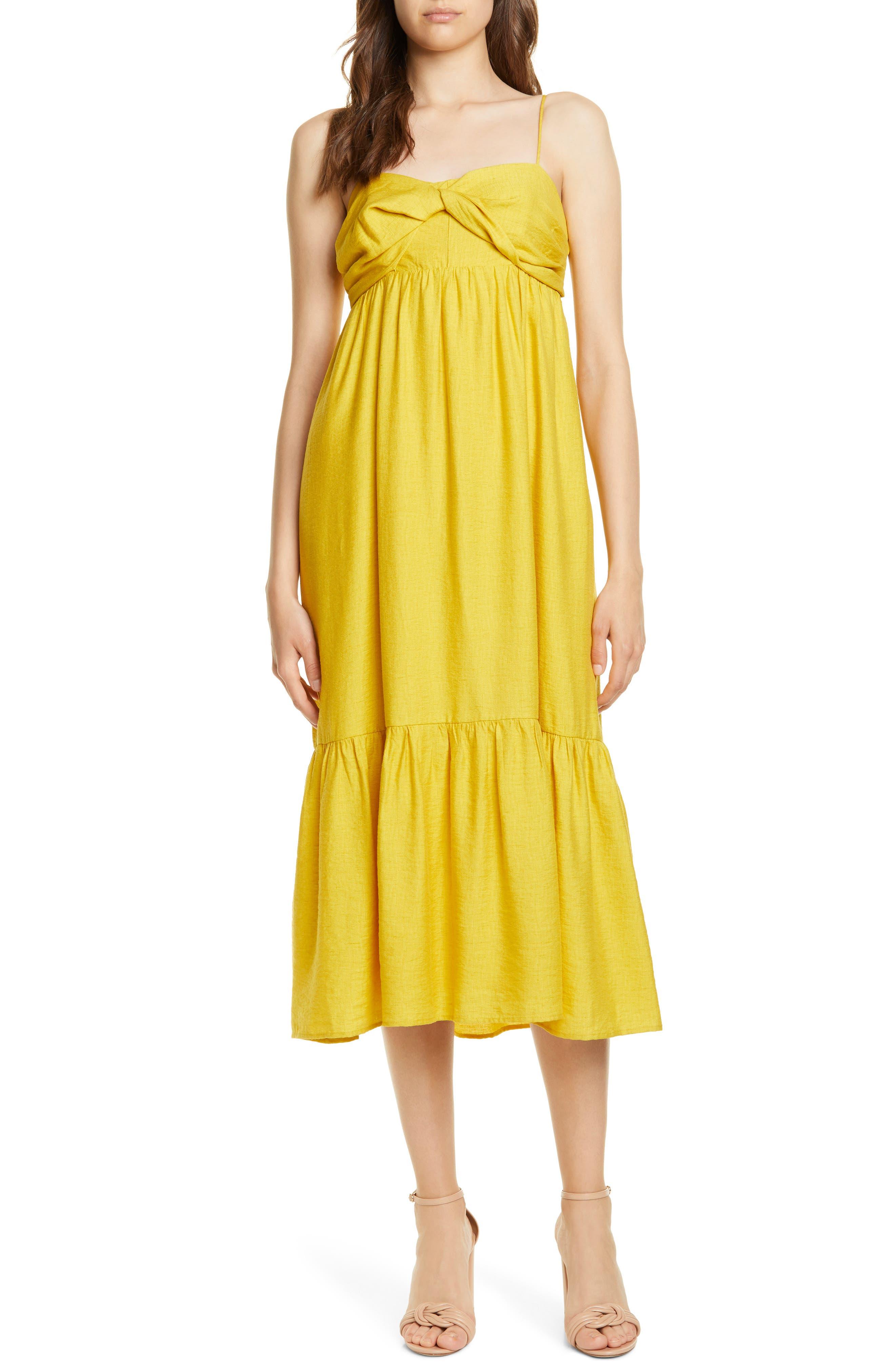 Joie Chayton Ruffle Hem Midi Sundress, Yellow