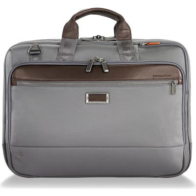Briggs & Riley @work Large Expandable Ballistic Nylon Laptop Briefcase With Rfid Pocket - Grey