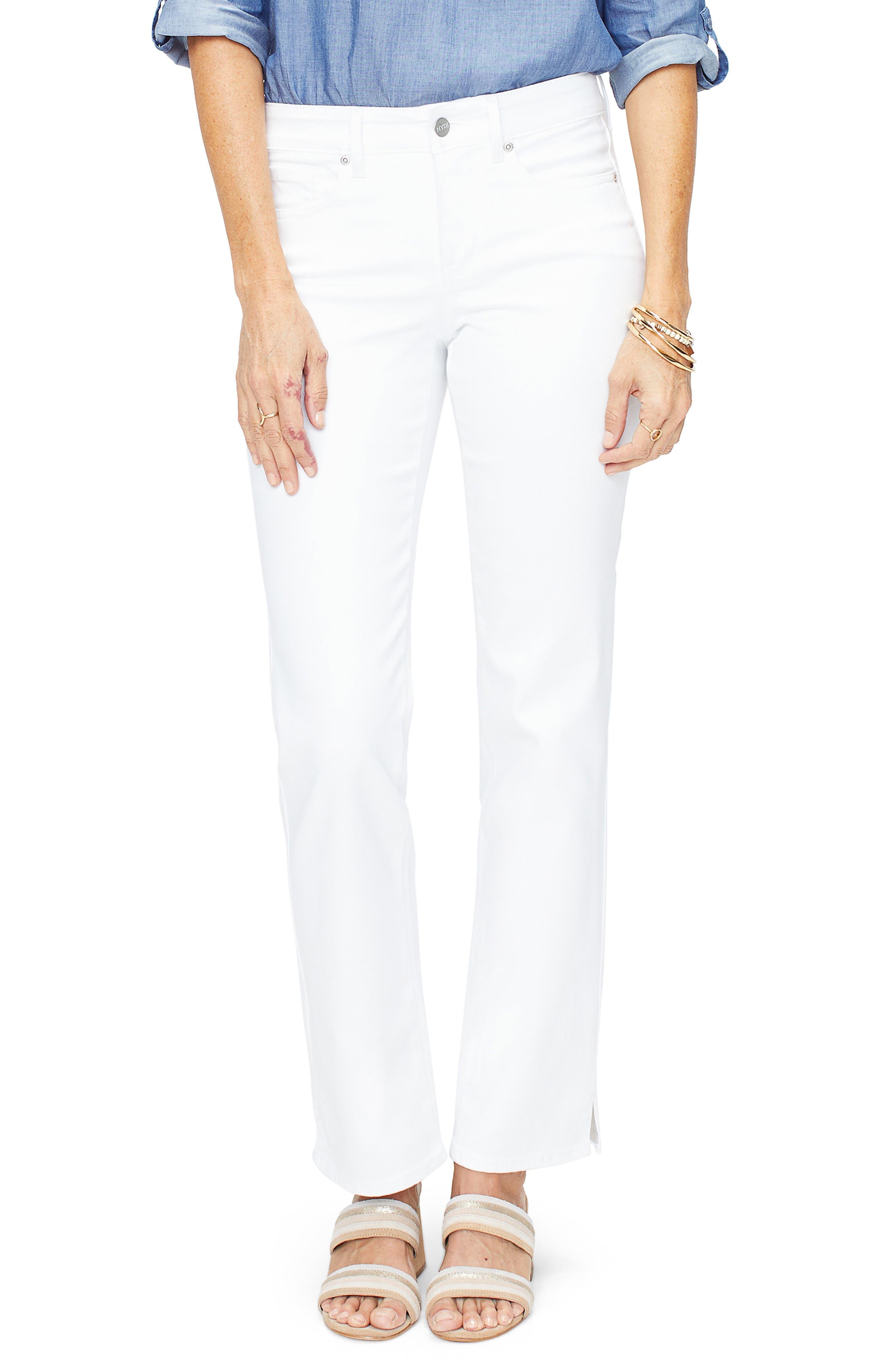 Women's NYDJ Marilyn Slit Hem Straight Leg Jeans