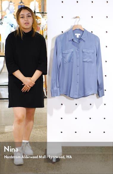 Two-Pocket Stretch Silk Shirt, sales video thumbnail