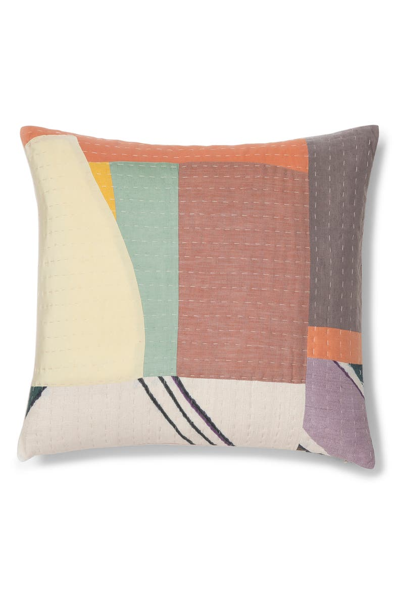 THOMPSON STREET STUDIO Abstract Landscape Accent Pillow, Main, color, MULTI