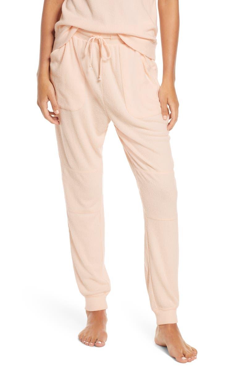 BP. x Claudia Sulewski Lounge Jogger Pants, Main, color, PINK PEONY BUD