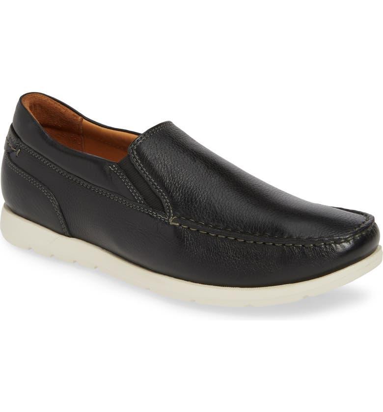JOHNSTON & MURPHY Carlisle Moc Toe Venetian Loafer, Main, color, 001