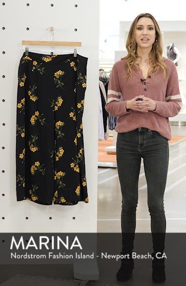 High Waist Soft Wide Leg Crop Pants, sales video thumbnail