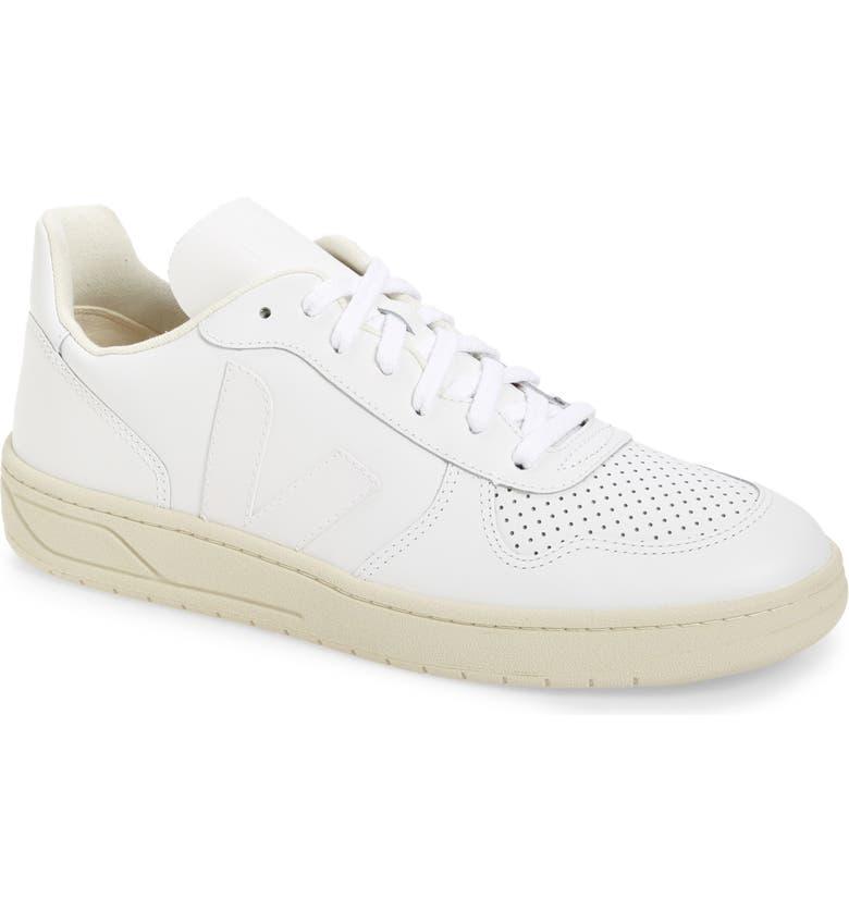 VEJA V-10 Sneaker, Main, color, EXTRA WHITE