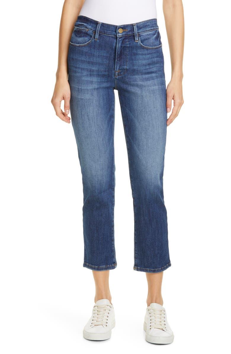 FRAME Le High Ankle Straight Leg Jeans, Main, color, BESTIA