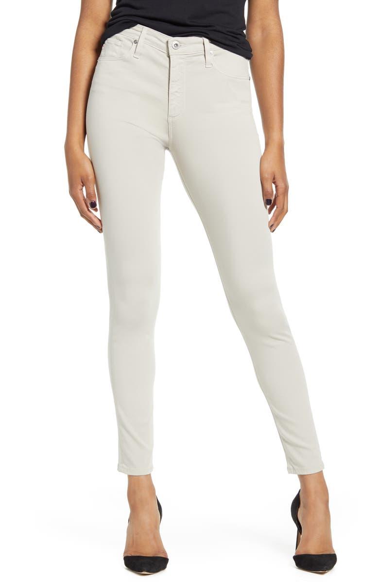 AG Farrah High Waist Ankle Skinny Jeans, Main, color, 037