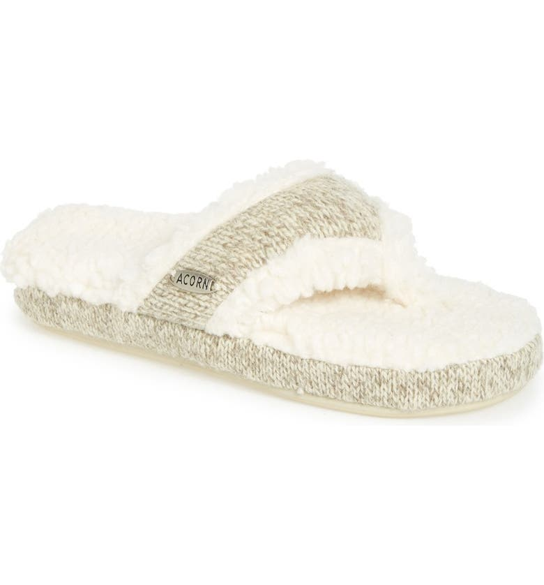 ACORN 'Ragg' Spa Slipper, Main, color, GREY FABRIC