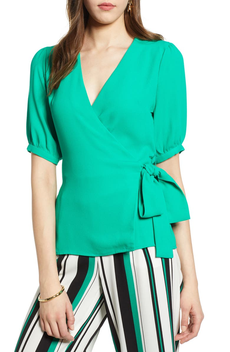 HALOGEN<SUP>®</SUP> Wrap Top, Main, color, 310