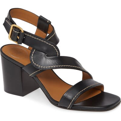 Chloe Candice Block Heel Sandal, Black