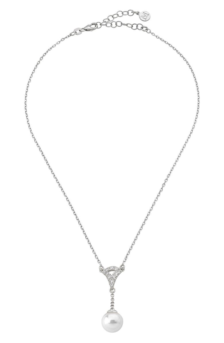 MAJORICA Simulated Pearl Necklace, Main, color, 040